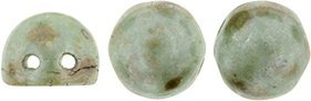 CzechMates Cabochon 7mm: Ultra Luster - Opaque Green