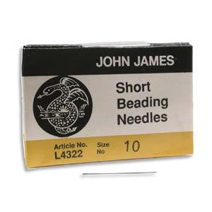John James: beading naalden #10 short
