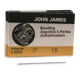 John James: beading needles #15