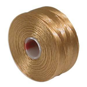 S-Lon bead cord D: Light Brown