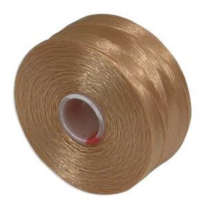 S-Lon bead cord D: Tan