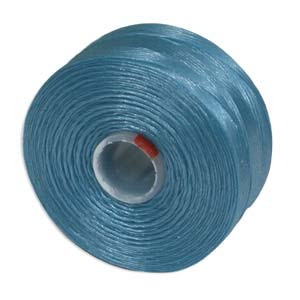 S-Lon bead cord D: Turquoise Blue