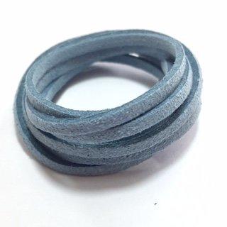 Suedine veter: grijsblauw