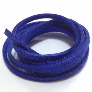 Suedine veter: kobaltblauw glitter