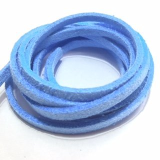 Suedine veter: lichtblauw