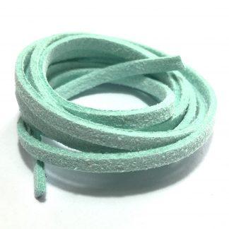 Suedine veter: licht turquoise