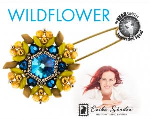 De 'Wildflower' is ontworpen door sieraden ontwerpster Erika Sandor en kan als workshop gevolgd worden bij kralenwinkel Limited Edition in Den Haag.