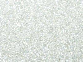 De rocaille seed bead van het Japanse merk Miyuki is te koop bij kralenwinkel Limited Edition in Den Haag in de maat 11-0250 Crystal AB.