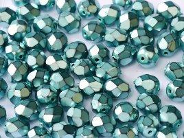De glazen Fire Polished beads in de maat 6mm worden veel gebruikt in sieraden patronen en zijn te koop bij kralenwinkel Limited Edition in Den Haag in de kleur 23980-34646.