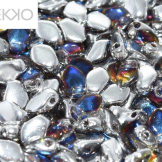 De gekko glaskraal is leuk om te gebruiken in sieraad patronen en is te koop bij kralenwinkel Limited Edition in Den Haag in de kleur 00030-29942.