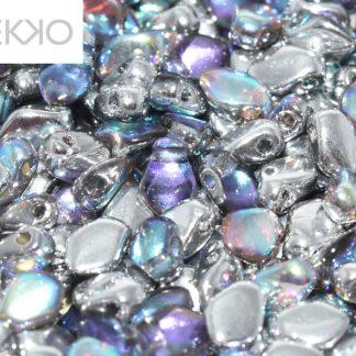 De gekko glaskraal is leuk om te gebruiken in sieraad patronen en is te koop bij kralenwinkel Limited Edition in Den Haag in de kleur 23980-98530.