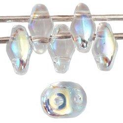 De SuperDuo glaskraal word veel gebruikt in sieraad patronen en is te koop bij kralenwinkel Limited Edition in Den Haag in de kleur X00030 Crystal AB.