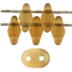 De SuperDuo glaskraal word veel gebruikt in sieraad patronen en is te koop bij kralenwinkel Limited Edition in Den Haag in de kleur M10230 Matte - Smoky Topaz.