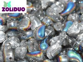 De zoliduo is een glaskraal die veel in patronen van sieraden gebruikt word en is te koop bij kralenwinkel Limited Edition in Den Haag in de maat 00030-28101 Crystal Vitrail.