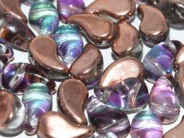 De zoliduo is een glaskraal die veel in patronen van sieraden gebruikt word en is te koop bij kralenwinkel Limited Edition in Den Haag in de maat 00030-51002 Crystal Copper.