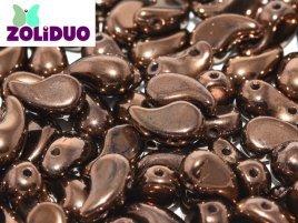 De zoliduo is een glaskraal die veel in patronen van sieraden gebruikt word en is te koop bij kralenwinkel Limited Edition in Den Haag in de maat 23980-14415 Jet Bronze.