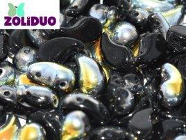 De zoliduo is een glaskraal die veel in patronen van sieraden gebruikt word en is te koop bij kralenwinkel Limited Edition in Den Haag in de maat 23980-28001 Jet Marea.