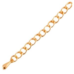 Met deze verleng ketting van DQ kwaliteit kun je makkelijk je armband of ketting wat langer maken en is te koop bij kralenwinkel Limited Edition in de kleur rose goud.