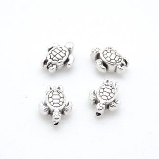 Deze zilveren schildpad kraal van DQ kwaliteit is te koop bij kralenwinkel Limited Edition in Den Haag.