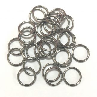 Deze 10mm open ringen van roestvrijstaal zijn ideaal om sieraden mee af te werken en te koop bij kralenwinkel Limited Edition in Den Haag.