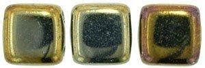 De Tile Bead van het merk CzechMates is 6mm en leuk te combineren met andere two hole beads en is te koop bij kralenwinkel Limited Edition in Den Haag in de kleur 21415JT.