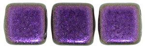 De Tile Bead van het merk CzechMates is 6mm en leuk te combineren met andere two hole beads en is te koop bij kralenwinkel Limited Edition in Den Haag in de kleur 94101JT.