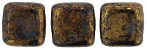 De Tile Bead van het merk CzechMates is 6mm en leuk te combineren met andere two hole beads en is te koop bij kralenwinkel Limited Edition in Den Haag in de kleur LG23980.