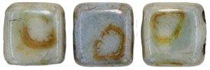 De Tile Bead van het merk CzechMates is 6mm en leuk te combineren met andere two hole beads en is te koop bij kralenwinkel Limited Edition in Den Haag in de kleur LN02010.