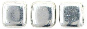 De Tile Bead van het merk CzechMates is 6mm en leuk te combineren met andere two hole beads en is te koop bij kralenwinkel Limited Edition in Den Haag in de kleur S00030.