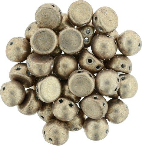 De CzechMates Cabochon 7mm glaskraal word veel gebruikt in sieraad patronen en is te koop bij kralenwinkel Limited Edition in Den Haag in de kleur 77056CR.