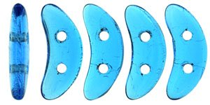 De CzechMates Crescent glaskraal word veel gebruikt in sieraad patronen en is te koop bij kralenwinkel Limited Edition in Den Haag in de kleur 60080.