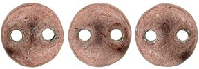 De Lentil kraal van het merk CzechMates is 6mm en leuk te combineren met andere two hole beads en is te koop bij kralenwinkel Limited Edition in Den Haag in de kleur 04B04.