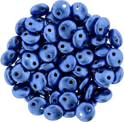De Lentil kraal van het merk CzechMates is 6mm en leuk te combineren met andere two hole beads en is te koop bij kralenwinkel Limited Edition in Den Haag in de kleur 04B05.