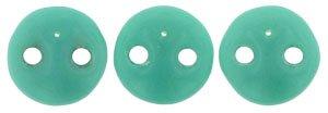 De Lentil kraal van het merk CzechMates is 6mm en leuk te combineren met andere two hole beads en is te koop bij kralenwinkel Limited Edition in Den Haag in de kleur 63130.