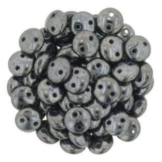 De Lentil kraal van het merk CzechMates is 6mm en leuk te combineren met andere two hole beads en is te koop bij kralenwinkel Limited Edition in Den Haag in de kleur L23980.