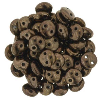 De Lentil kraal van het merk CzechMates is 6mm en leuk te combineren met andere two hole beads en is te koop bij kralenwinkel Limited Edition in Den Haag in de kleur LZ23980.
