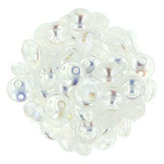 De Lentil kraal van het merk CzechMates is 6mm en leuk te combineren met andere two hole beads en is te koop bij kralenwinkel Limited Edition in Den Haag in de kleur X00030.