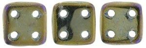 De CzechMates QuadraTile glaskraal word veel gebruikt in sieraad patronen en is te koop bij kralenwinkel Limited Edition in Den Haag in de kleur 21415JT.