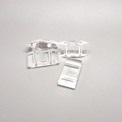 Deze acryl kralen verdeler is te vergelijken met de Duitse tragerperlen en is te koop bij kralenwinkel Limited Edition in de kleur crystal.