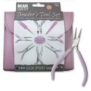 Dit luxe paarse tangenset van Beadsmith is te koop bij kralenwinkel Limited Edition in Den Haag.