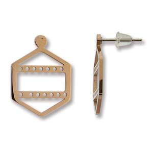 Met deze oorbellen kun je een paar rijen Miyuki kraaltjes toevoegen waarmee je ze perfect kunt matchen met een ander sieraad en is te koop bij kralenwinkel Limited Edition in Den Haag in de kleur rose goud.