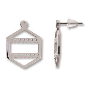 Met deze oorbellen kun je een paar rijen Miyuki kraaltjes toevoegen waarmee je ze perfect kunt matchen met een ander sieraad en is te koop bij kralenwinkel Limited Edition in Den Haag in de kleur zilver.