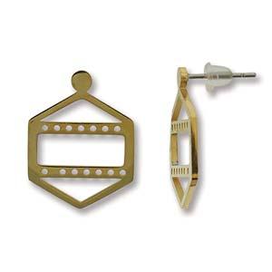 Met deze oorbellen kun je een paar rijen Miyuki kraaltjes toevoegen waarmee je ze perfect kunt matchen met een ander sieraad en is te koop bij kralenwinkel Limited Edition in Den Haag in de kleur goud.