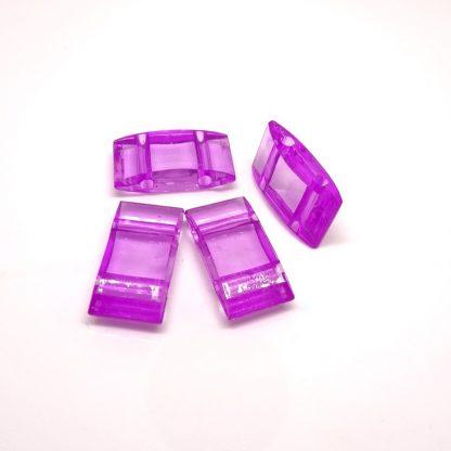 Deze acryl kralen verdeler is te vergelijken met de Duitse tragerperlen en is te koop bij kralenwinkel Limited Edition in de kleur fuchsia.