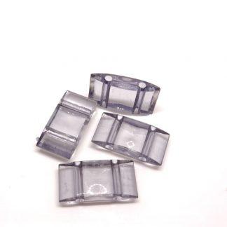 Deze acryl kralen verdeler is te vergelijken met de Duitse tragerperlen en is te koop bij kralenwinkel Limited Edition in de kleur grijs.