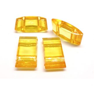 Deze acryl kralen verdeler is te vergelijken met de Duitse tragerperlen en is te koop bij kralenwinkel Limited Edition in de kleur oranje.