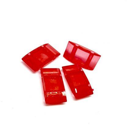 Deze acryl kralen verdeler is te vergelijken met de Duitse tragerperlen en is te koop bij kralenwinkel Limited Edition in de kleur rood.
