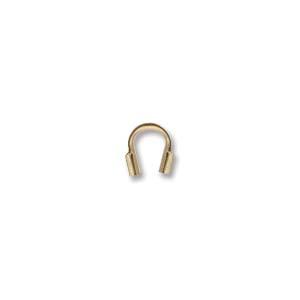 Deze draad beschermer of wire guardian kan gebruikt worden om het einde van de draad te beschermen en is te koop bij kralenwinkel Limited Edition in de maat 4.5x5mm in de kleur rose gold filled.
