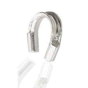 Deze draad beschermer of wire guardian kan gebruikt worden om het einde van de draad te beschermen en is te koop bij kralenwinkel Limited Edition in de maat 4.5x5mm in de kleur sterling zilver.