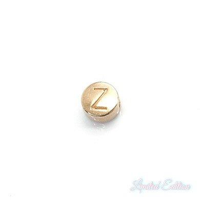 Deze metalen DQ letterkralen zijn te koop bij kralenwinkel Limited Edition in Den Haag in de kleur rose goud in de letter Z.